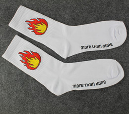 More Than Dope Flame Print Socks Fashion Unisex skateboard socks sports stockings Harajuku Socks Hiphop Socks Fashion stockings Free Shippin
