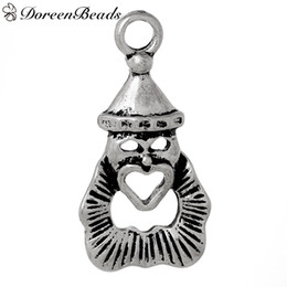 Wholesale Zinc Metal Alloy Pendants Circus Human Antique Silver Heart Carved mm quot x mm quot new jewelry making