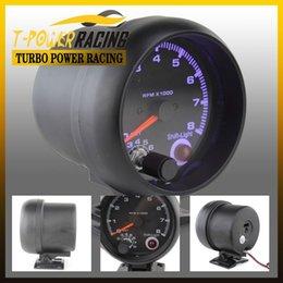 Wholesale 3 quot Universal Black color rpm gauge with inter shift light Auto gauge Tachometer Auto meter Car meter Racing meter