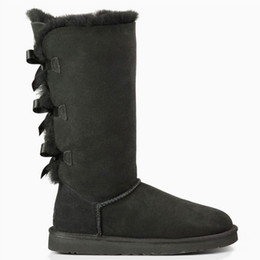 Wholesale BAILEY BOW Boots Shoes Classic Motorcycle Brand Ladies Fashion Women Shoes Boots with Sheep Skin for Women