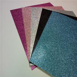 Wholesale Hot fashion glitter paper crafs x12 inch single face color paper