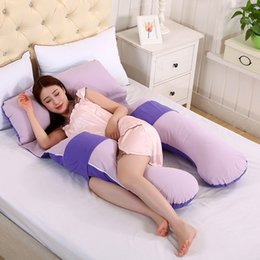 Wholesale Comfortable Body Pillows For Pregnant Women Pregnancy Pillow Best for Side Sleepers Removable Cover cm cm EMS