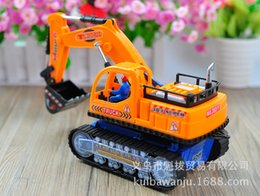 Wholesale New Big Excavator Dig Move Shove Rotate Function with Music and Light Recharger Super Power navvy Navvy Toy