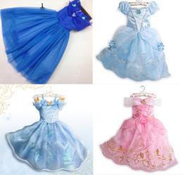 2016 nouvelles robes de filles de noël Nouvelle robe de princesse de Cendrillon de filles de robe de cendrillon pour 3 à 9Years Enfants Partie robe de fantaisie de robe pour Noël et Halloween nouvelles robes de filles de noël sur la vente