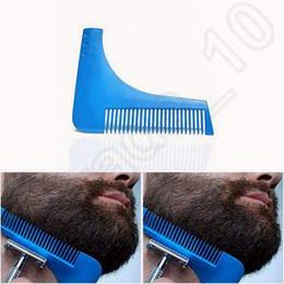 Descuento recortar las herramientas de corte Bro-barba barba Bro barba herramienta de conformación para líneas perfectas recortadora de pelo para hombres recorte plantilla cabello corte caballero modelado peine CCA5088 100pcs