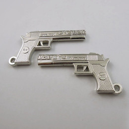 8PCS Pack Antique Silver Gun Zinc Alloy Pendant Charm Jewelry Finding 46*26*4mm 36788 jewelry making