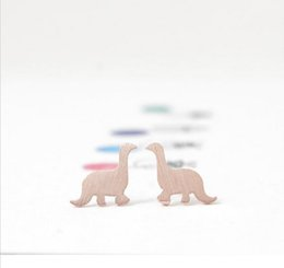 Fashion dinosaur stud earrings 18K Gold Plated silver plated rose gold plated stud earrings wholesale free shipping