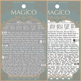 Wholesale See details black white newspaper Newest NO MAGICO Series d nail art stickers nail art decal nail art stamping