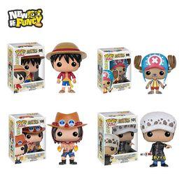 Wholesale 2016 Funko POP Luffy Chooper Grafalgar Law Portgas D Ace One Piece Vinyl Figure Collectible Model Toy