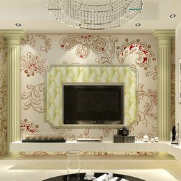 Wholesale Modern minimalist D stereoscopic software package pillars wallpaper wall stickers TV backdrop sofa background restaurant suitable for the b