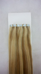 LUMMY Tape In Brazilian Human Hair Extensions Piano Color #27 613 40 pieces 100g Tape Human Hair