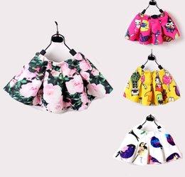 Wholesale Baby Girls Childrens Kids Dance Clothing Tutu Printed Floral Skirt Pettiskirt Dance Ballet Dress Fancy Skirt Costume Children Clothes