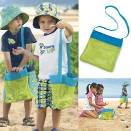 Acheter en ligne Stockage pour les jouets-New Arrival Unisex Enfants Sand Away Carry Beach Trésors Toys Pouch Tote Mesh Sac de rangement pour enfants