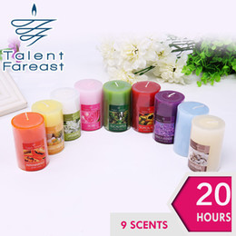 Wholesale 20Hours Scented Candles Pillar Candle With A Variety Of Fragrance Aroma Paraffin Wax Aromatherapy Candles Product Code