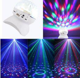 Wholesale Rotating Magic Ball speaker Light with Wireless Bluetooth Speaker Mini Card Slot Rotating For KTV Xmas Party Club Pub Disco DJ