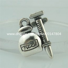 Wholesale 15047 Alloy Antique Silver Vintage mm Mini Perfume Bottle Pendant Charm