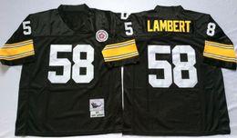Wholesale 58 Jack Lambert Dermonttt Dawson Joe Greene Name And Number Are Stitched Mens Throwback Football Jerseys