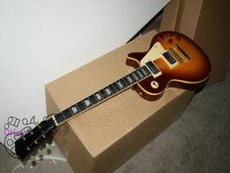 Wholesale Newest Custom Yellow Binding Electric Guitar Ebony fingerboard Best Selling