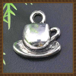 Wholesale DIY jewelry accessories alloy antique silver coffe cup charms jewelry coffee cup pendants x15mm