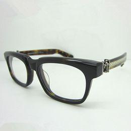 Hot Sale chromeHearts SEE YOU IN TEA Oculos De Grau Frame Men Eye Glasses Women Handcrafted Frame Japan Brand Optical Frame 53mm