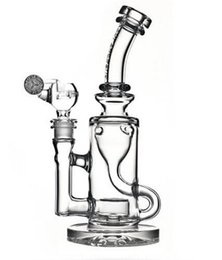 Wholesale 2016 high quality quot Functional Klein bongs water Torus bong recycler oil rigs glass water pipes bongs joint size mm Mothership Klein