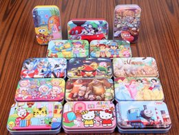 Wholesale Classic animated image puzzles Tin wooden puzzles Children s educational toys