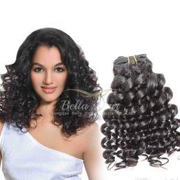 Deep Curl Brazilian Hair Bundles Funmi Hair Extensions Weaves 3pcs lot 7A Quality Natural Color Bella Hair