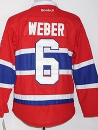 Wholesale Cord NHL Montreal Canadiens SHEA WEBER Lace Red Hockey Jerse Stitched Mix Order