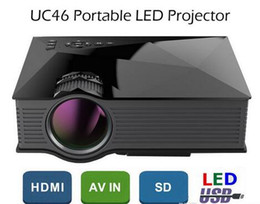 10PCS UNIC UC46 Mini Portable Projector 800x480 1200 Lumens Full HD 1080P With WIFI Connection Home Theater LED Video Projector