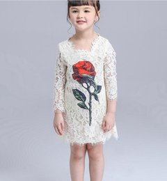New 2016 noble Baby Girls party Dresses Toddler Baby lace Crochet tulle long sleeve Dress for sping Princess Party dresses children clothing