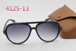 Wholesale 2016 retro Street Sunglasses Black Frame Black Lens brown box