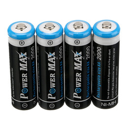 Wholesale 12 a set A V mAh POWER MAX AA NI MH Rechargeable Battery