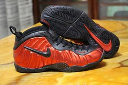Wholesale Nike Air Foamposite One Black Red Men Basketball Sports Shoes Penny Hardaway Size