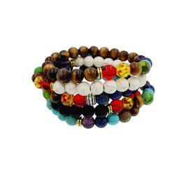 Wholesale 8 mm chakra stones bracelet Buddha to buddha bracelets mala beads lava energy bracelets for women mens beaded bracelets