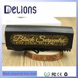 Wholesale Best fully Mechanical box mod Black serpentes serpentes box mod in stock with factory price