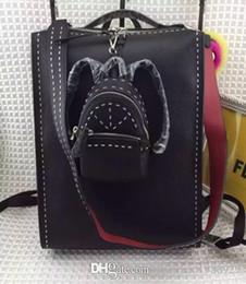 Wholesale 2016 F luxury brand peekaboo mens black leather new original man genuine leather rivets handbags single shoulder bags