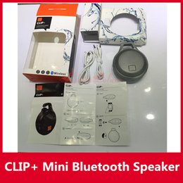Wholesale CLIP Mini Bluetooth Speaker J B L Clip Plus Portable Outdoor Subwoofer Mini Waterproof Speaker with Retail Package Colors Hotsale InStock