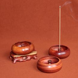 Wholesale natural Burma s rosewood sticks incense holder incense copper base wood incense burner home decoration wooden art craft censer