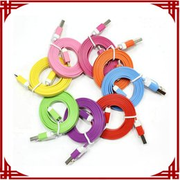 [ sp ] In Stock 1M Micro V8 Noodle Flat Data USB Charging Cords Charger Cable Line for Samsung Android iPhone