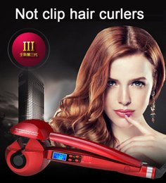 Wholesale Titanium Auto Hair Curler With LCD Display Hair Care Styling Tools Ceramic Wave Hair Roller Magic Curling Iron Hair Styler