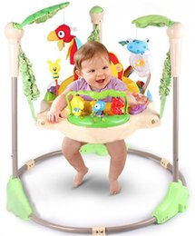 Wholesale Rainforest Jumperoo Baby Bouncer Rocking Chair Garden Chair Baby Fitness Bounce Trampoline Game Blanket Activity Center Baby Swing Toys