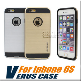 Wholesale For iPhone iPhone V erus Case Brushed Metal VERGE Dual Layered Anti Shock Hard Case Shockproof BackCover with OPP Package