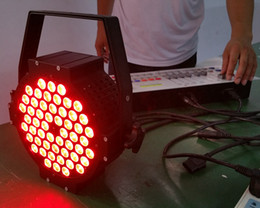 Free shipping Cast aluminium 54*3W 3in1 LED Par Cans Aluminium Tri color Flat DMX LED Stage Lighting