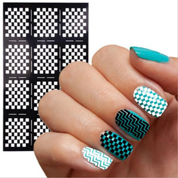 Wholesale Nouvelle Collection Nail Vinyls Imprimer Nail Art Sticker Stencil Nail Art Stickers Nail Laser Pochoirs Ongles Outils Conseils Sheet