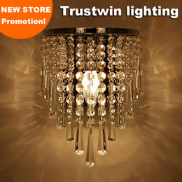 Silver Art Deco Style corridor LED stair corridor living room bedroom crystal bedside wall light lamp sconce