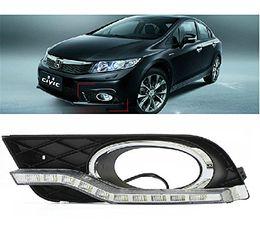 Wholesale Auto Tech LED Daytime Running Light fog lamp Retrofit Car LED DRL kit For Honda Civic Sedan Ninth Generation