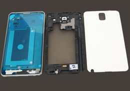 Wholesale Complet Retour Couverture de la batterie Boîtier complet avec cadre moyen Boîtier pour Samsung Galaxy Note N900