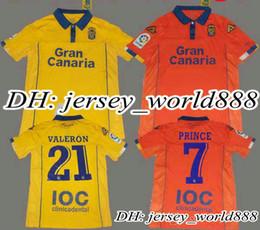 Wholesale Top Thai quality UD Las Palmas yellow home Soccer Jersey Las Palmas VALERON away Pink football men shirt