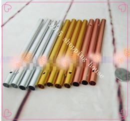 2017 des tubes métalliques creux Accessoires Windbell cuivre / argent / or \ \ 8MM longueur de diamètre 12cm tube creux Handmade bricolage tube de matière Campanula des tubes métalliques creux offres