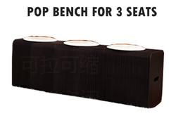 Wholesale H42 xL150cm Innovation Furniture Pop Smart Bench Indoor Universal Waterproof Accordion Style Kraft Portable Chair for Seats Black